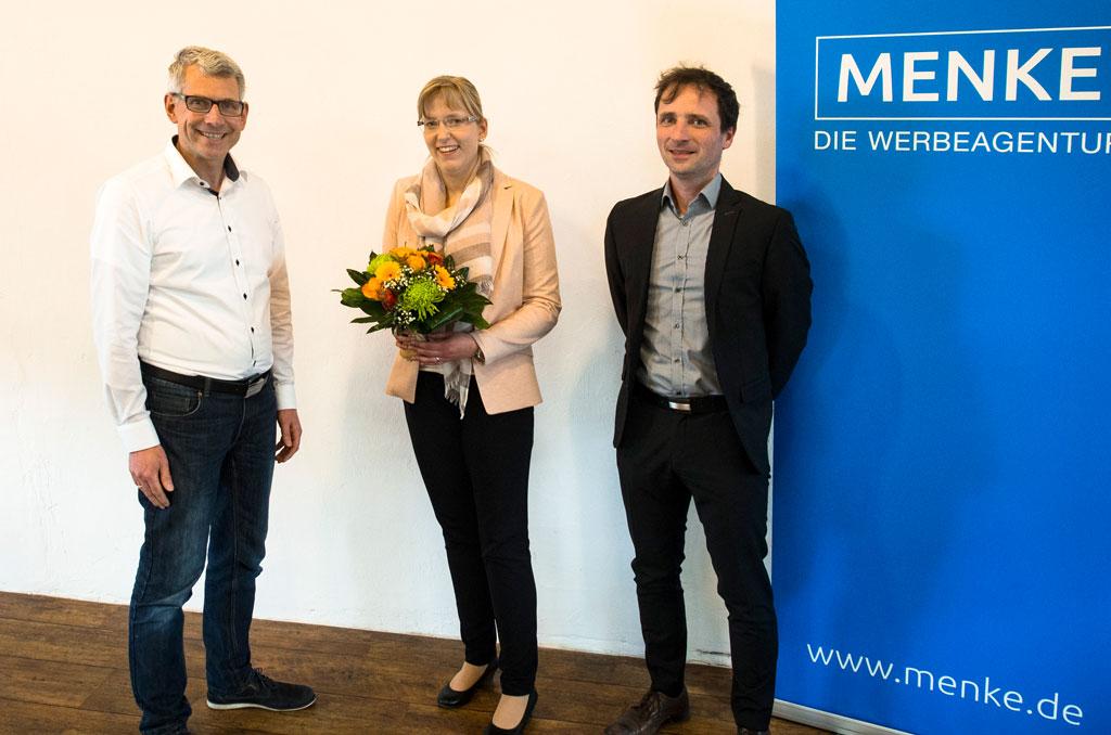 v.l.: Jens Menke, Jennifer Lüken, Jens Wübker